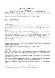 Městský úřad Rousínov Usnesení č. II/31/2011