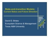 State-and-transition models: current status and future direction