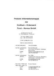 Prod u kt- I nformationsmappe der - Corthum
