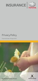 Toyota Privacy Policy - (PDF: 0.5MB - opens in new window)