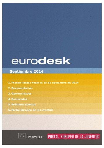 Boletin Eurodesk Septiembre 2014