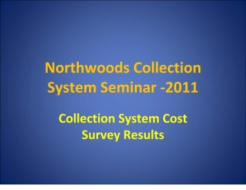 Collection System Cost Survey Results