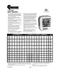 QMark Type MUH Heater Information - some available in Gaumer ...