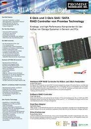 6 Gb/s und 3 Gb/s SAS / SATA RAID Controller von ... - Storesys