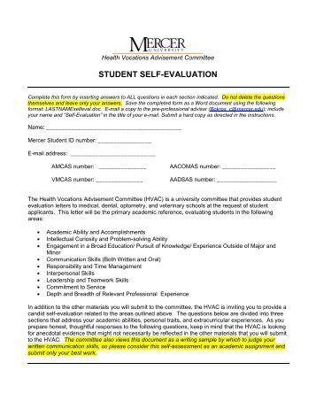 Sac Self-Evaluation Form - Florida-Family.Net