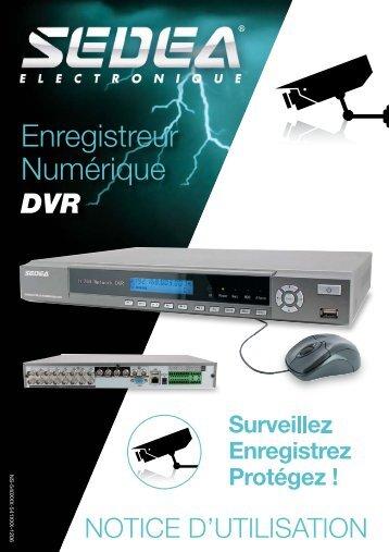 Notice pour Enregistreurs numériques DVR SEDEA