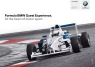 Formula BMW Guest Experience. At the heart of ... - BMW Motorsport