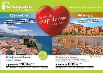 Maroc Croatie - Verdié Voyages