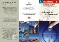 Consulte nuestro folleto especial - Cydesa