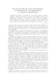 Un curriculum di auto-conoscenza, ri-educazione ... - Claudio Naranjo