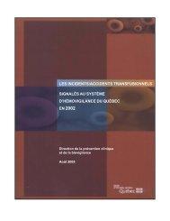 Les incidents/accidents transfusionnels signalés au système d ...