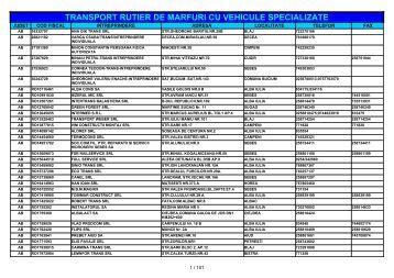 TRANSPORT RUTIER DE MARFURI CU VEHICULE SPECIALIZATE