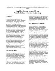 Applying Lessons Learned From Manufacturing to Systems - ASNE