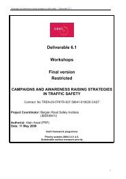 Deliverable D6.1 - CAST - Campaigns and Awareness-raising ...