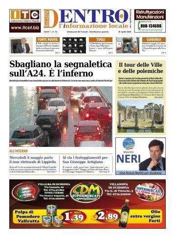 Dentro Magazine n. 16 - Aprile 2009 - La Voce del Nord Est Romano