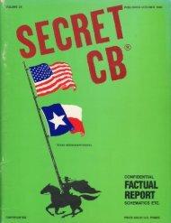 Secret CB Volume Twenty-Six - CB Tricks