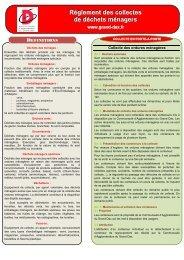 Règlement des collectes de déchets ménagers - Grand Dax