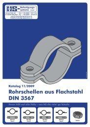 Rohrschellen aus Flachstahl DIN 3567 - HS-Befestigungssysteme