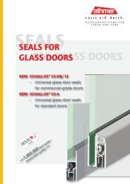 seals for glass doors - Athmer