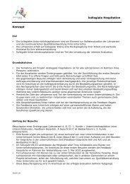 kollegiale Hospitation Konzept - Schule Zeiningen