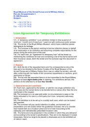 Loan Agreement for Temporary Exhibitions