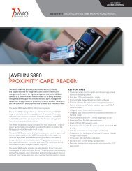 JAvELiN S880 PROximiTy CARD READER - AMAG