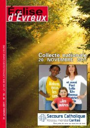 N° 19 - 31 octobre 2011 - Diocèse d'Evreux