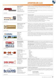 Firma / Standnummer Kontakt Beschreibung Stand 8 Stand 123 ...