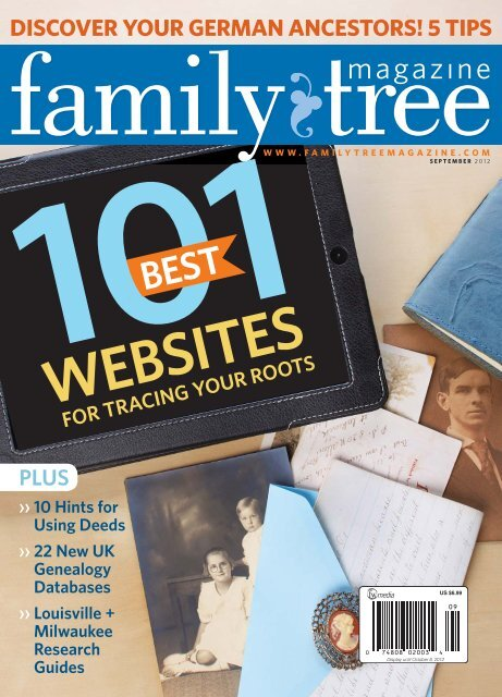 September 2012 Family Tree Magazine - F+W Media
