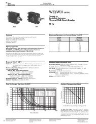 W23 and W31 Series Circuit Breaker Catalog Pages - P&B - Tyco ...