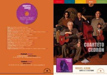 CUARTETO CEDRÓN - Le Chant Du Monde