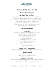 New Year's Eve Gala Dinner 2012-2013 - Atlantis The Palm