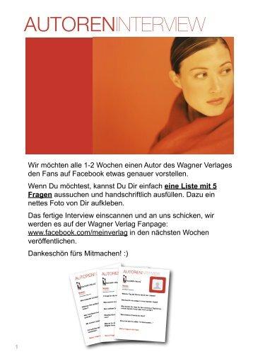 Autoren Interview Wagner Verlag