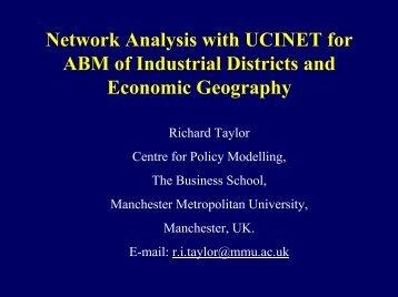 Uni Bari Presentation - Centre for Policy Modelling
