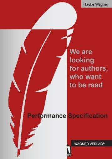 downloadable performance specification (pdf) - Wagner-Verlag