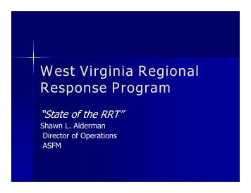 West Virginia Regional Response Program - West Virginia Division ...
