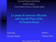Presentazione di PowerPoint - Museobotanico.univpm.it - Università ...