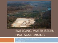 EMERGING WATER ISSUES: FRAC SAND MINING