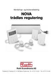 NOVA trådløs regulering Roth Scandinavia AS