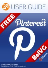 Pinterest Free User Guide - BelVG Magento Extensions Store