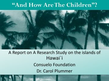 """""""And How Are the Children?"""": Carol Plummer, PhD, LCSW"""
