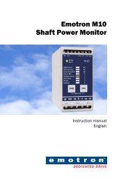 Instruction Manual Emotron M10 - Crompton Controls