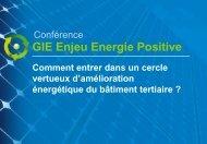 La présentation de la Conférence - Enjeu Energie Positive