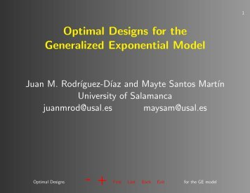 Optimal Designs for the Generalized Exponential Model