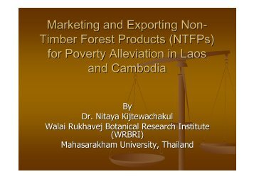 NTFPs - RCSD