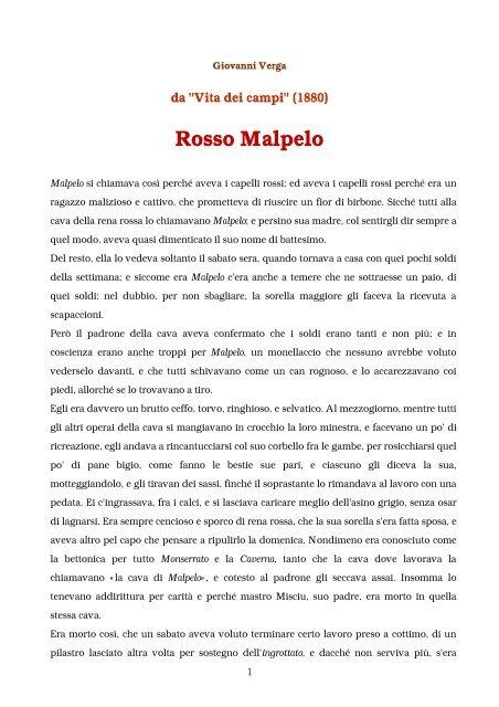 Rosso Malpelo Pdf