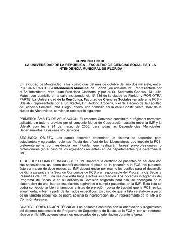 fcs y la intendencia municipal de florida - Facultad de Ciencias ...