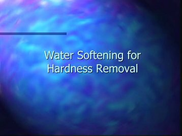 Water Softening and Hardness