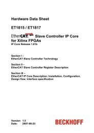 EtherCAT IP Core for Xilinx FPGAs Datasheet