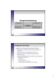 Ereignisverarbeitung Ereignisse (Events) - Telematik TH Wildau